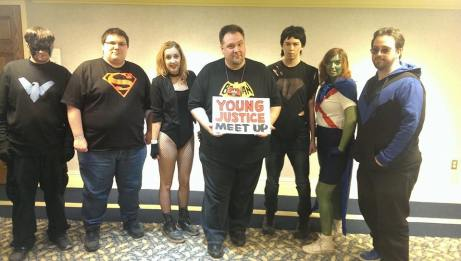 Young Justice Cosplayers at Hal-Con