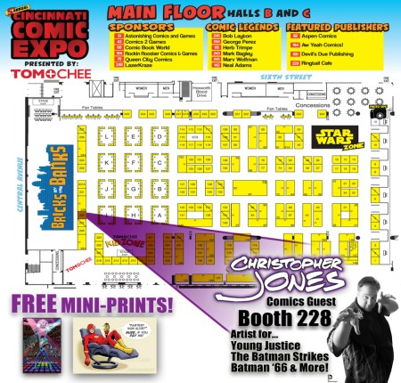 Map to find Christopher Jones at CCE 2014 (Booth 228)