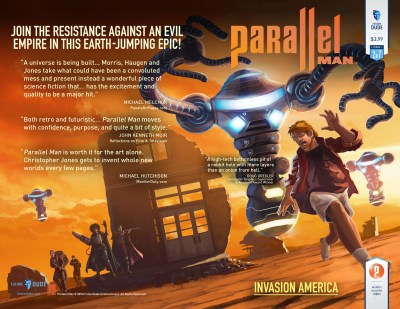 Parallel Man #2 Cover Art by Dylan Hansen. Layout by Christopher Jones.