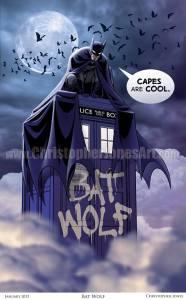 Bat Wolf Art Print