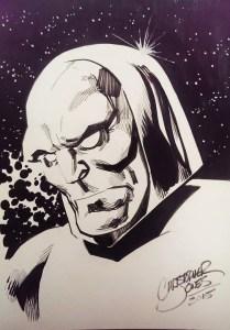 Sketch - Darkseid headshot