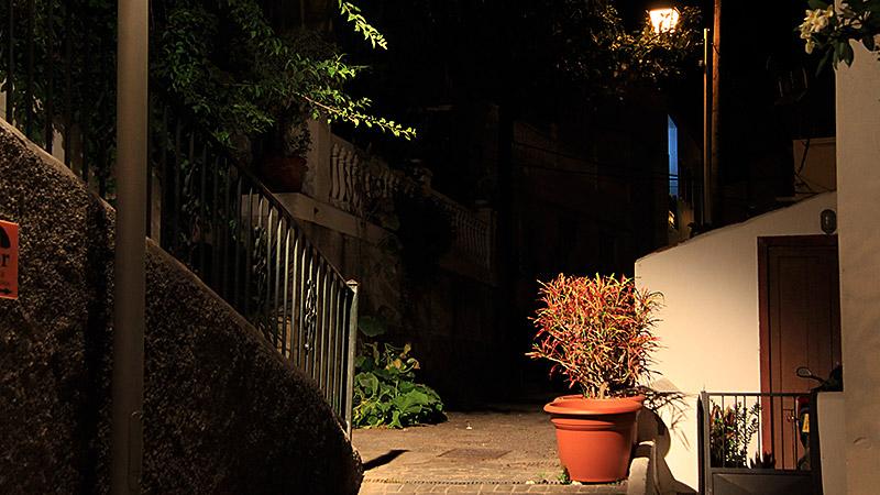 Nachts in den Gassen von La Calera