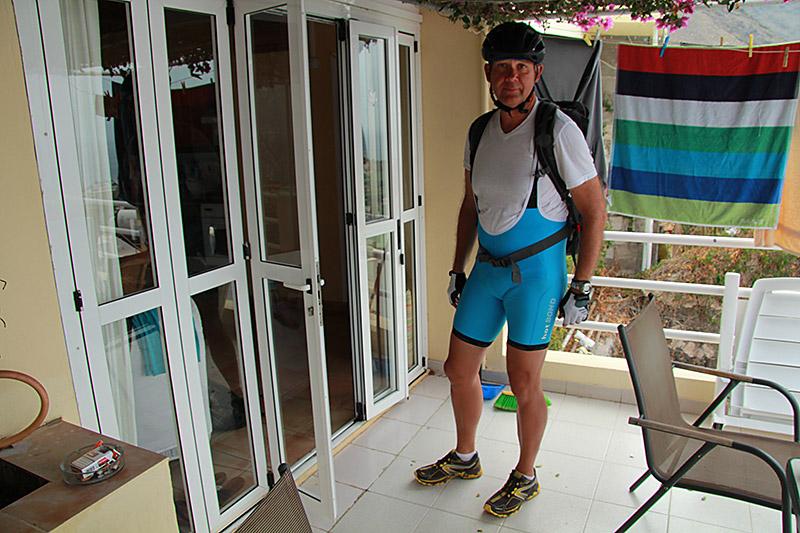 Reinhard bricht zur Radtour auf