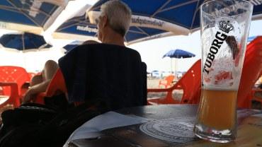 Bier in der Strandbar