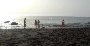 Nackte am Playa del Ingles