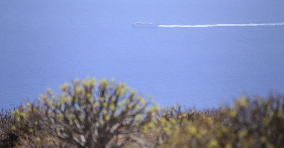"Die ""Armas"" auf dem Weg von La Palma nach San Sebastian"