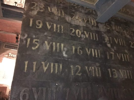 Wall (Uprising dates and bullet traces)