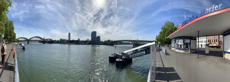 Hohenzollernbrücke und Rhein, Köln, Nordrhein-Westfalen, Deutschland