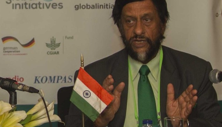 Dr. K. Pachauri di Forest Asia Summit 2014, Jakarta, Indonesia, tanggal 5 Mei 2014.