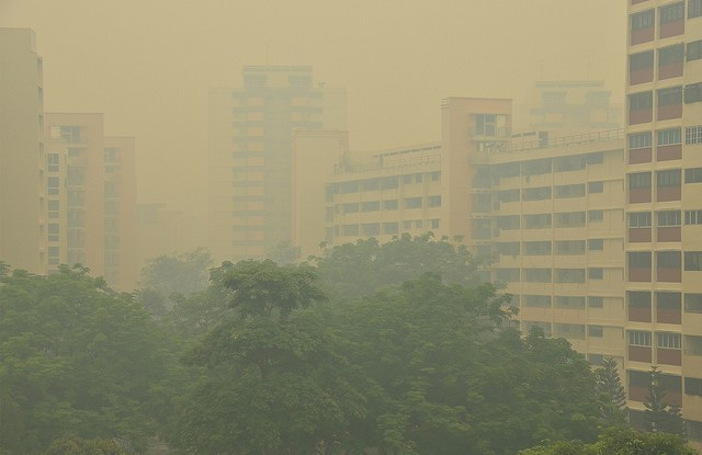View of Singapore, when PSI was 400: 11am on 21 June 2013.