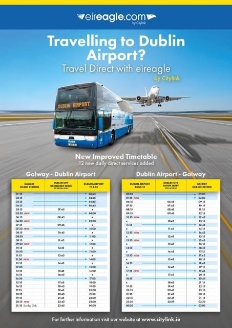 Galway to Dublin Airport timetable