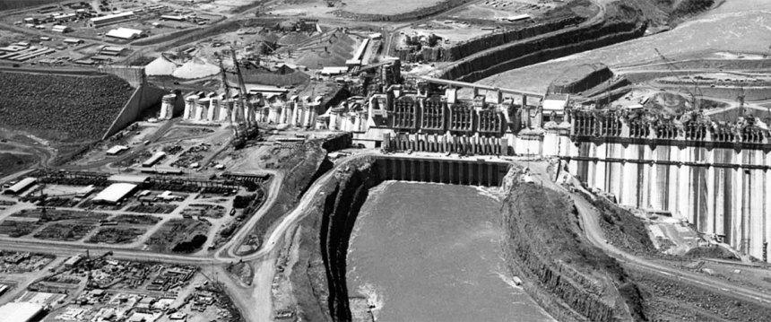 Itaipu construção decada 1970