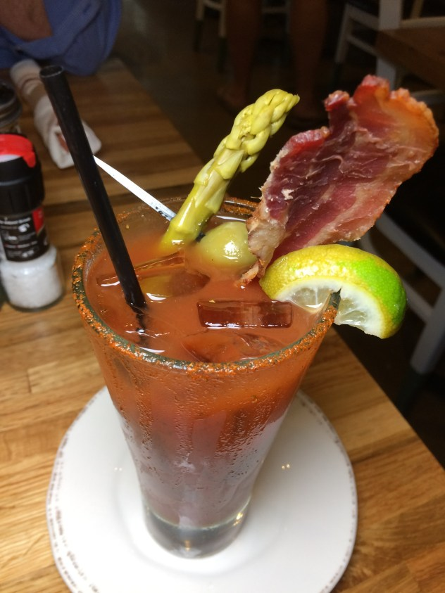 Bloody Mary at Iron Rooster In Baltimore Maryland