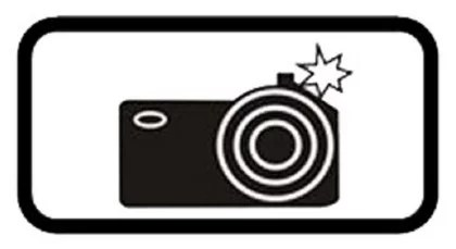 табличка со знаком фотофиксация