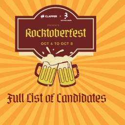 Rocktoberfest Official Line-up & Schedule