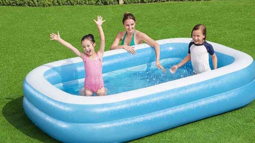 Líberate del calor con una piscina inflable