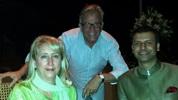 Jodi LeBlanc, Richard Beck & Girish Sehgal, General Mngr. Taj Falaknuma Palace