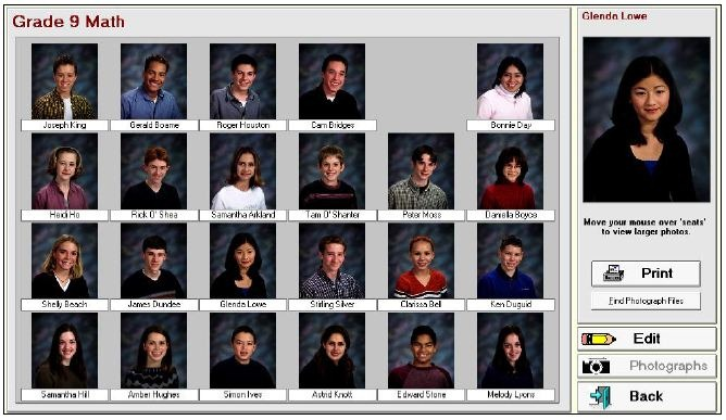 Classroom seating plan software