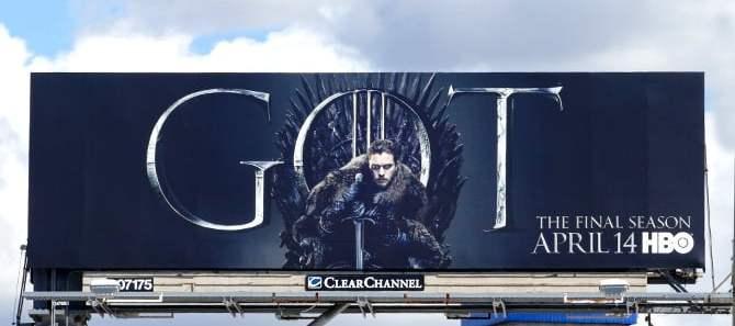 HBO Game of Thrones Jon Snow Billboard