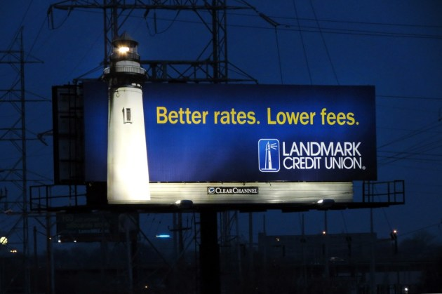 Landmark Credit Union Billboard at Night.jpg