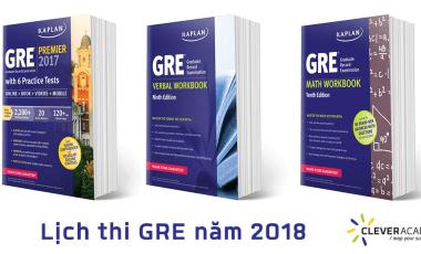 Lịch thi GRE năm 2018