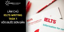 Làm chủ IELTS Writing Task 1 với 5 bước đơn giản