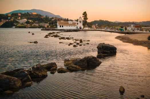 Coastal Town in Corfu