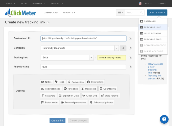 ClickMeter Track Bots