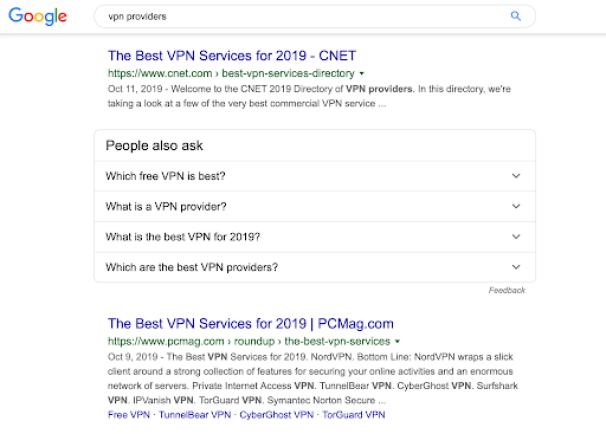 google - vpn providers