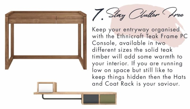 Clutter crushing solutions for your entryway