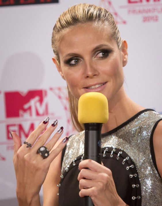 HEIDI KLUM at MTV European Music Awards Photocall in Frankfurt
