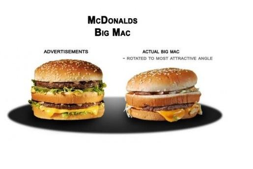 Un Big Mac nella pubblicità... e nella vita reale!