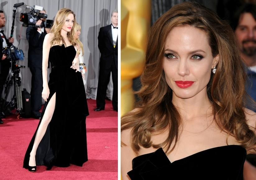 8f667c37f27f -Angelina Jolie e Sofia Vergara  il look classico e glamour del rossetto  rosso funziona sempre ed è super-elegante sia nella versione più intensa di  ...
