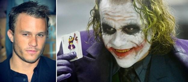 Heath Ledger nella sua magistrale interpretazione del Joker