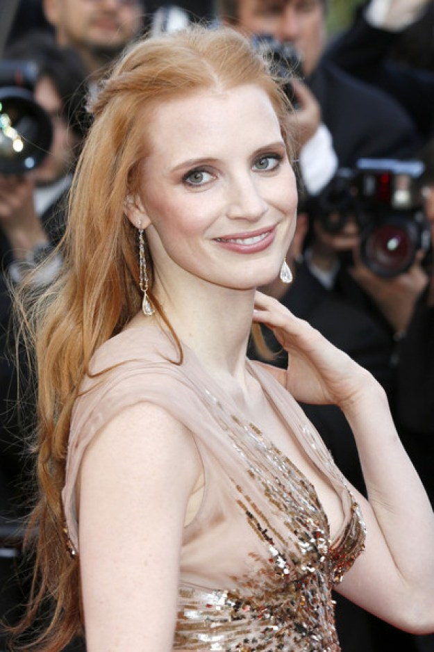 Jessica+Chastain+Long+Hairstyles-2