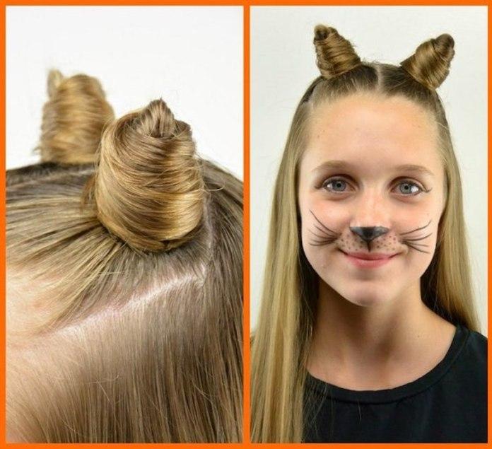cliomakeup-acconciature-facili-halloween-bambini-9-double-buns-gatto