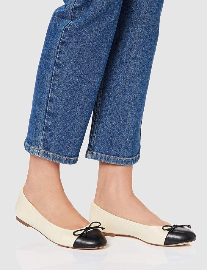 Cliomakeup-quali-scarpe-abbinare-ai-pantaloni-a-palazzo-12-find-ballerine-bicolor