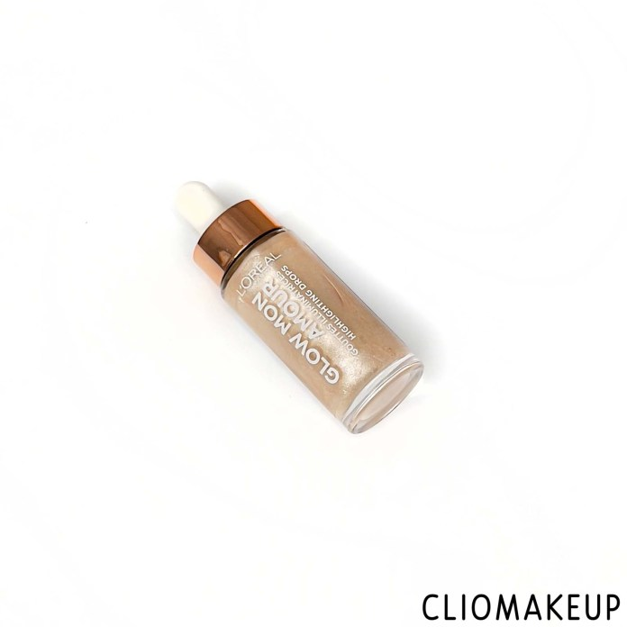 cliomakeup-recensione-illuminante-l-oreal-glow-mon-amour-highlighting-drops-2