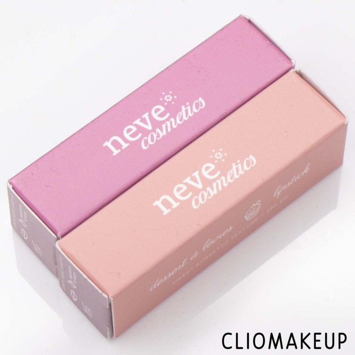 Cliomakeup-Recensione-Rossetti-Neve-Cosmetics-Dessert-À-Lèvres-Lipstick-Sweet-Sorbetto-Texture-Spf20-2