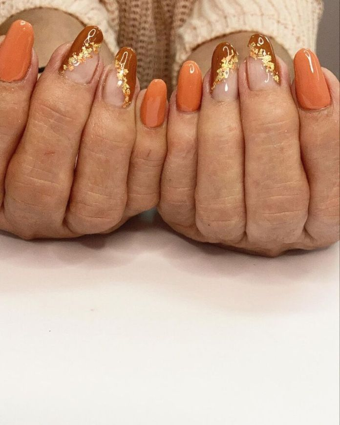 cliomakeup-pumpkin-nails-accent-nail-oro