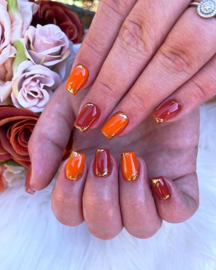 cliomakeup-pumpkin-nails-decorazione-oro