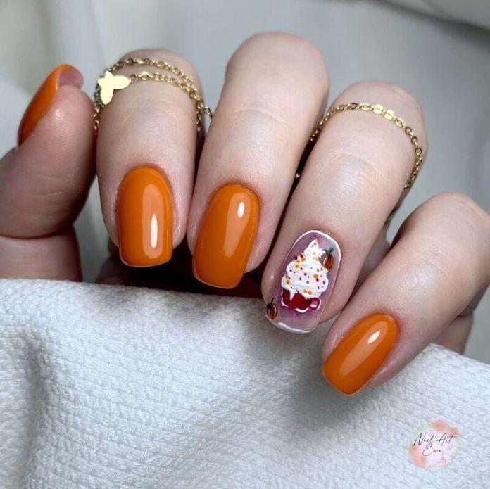 cliomakeup-pumpkin-nails-nail-art-semplici
