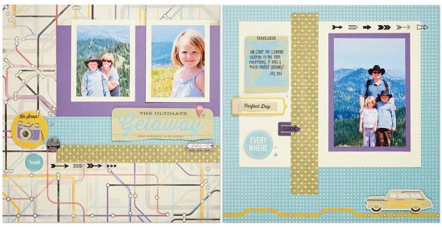 Wanderful scrapbook layout