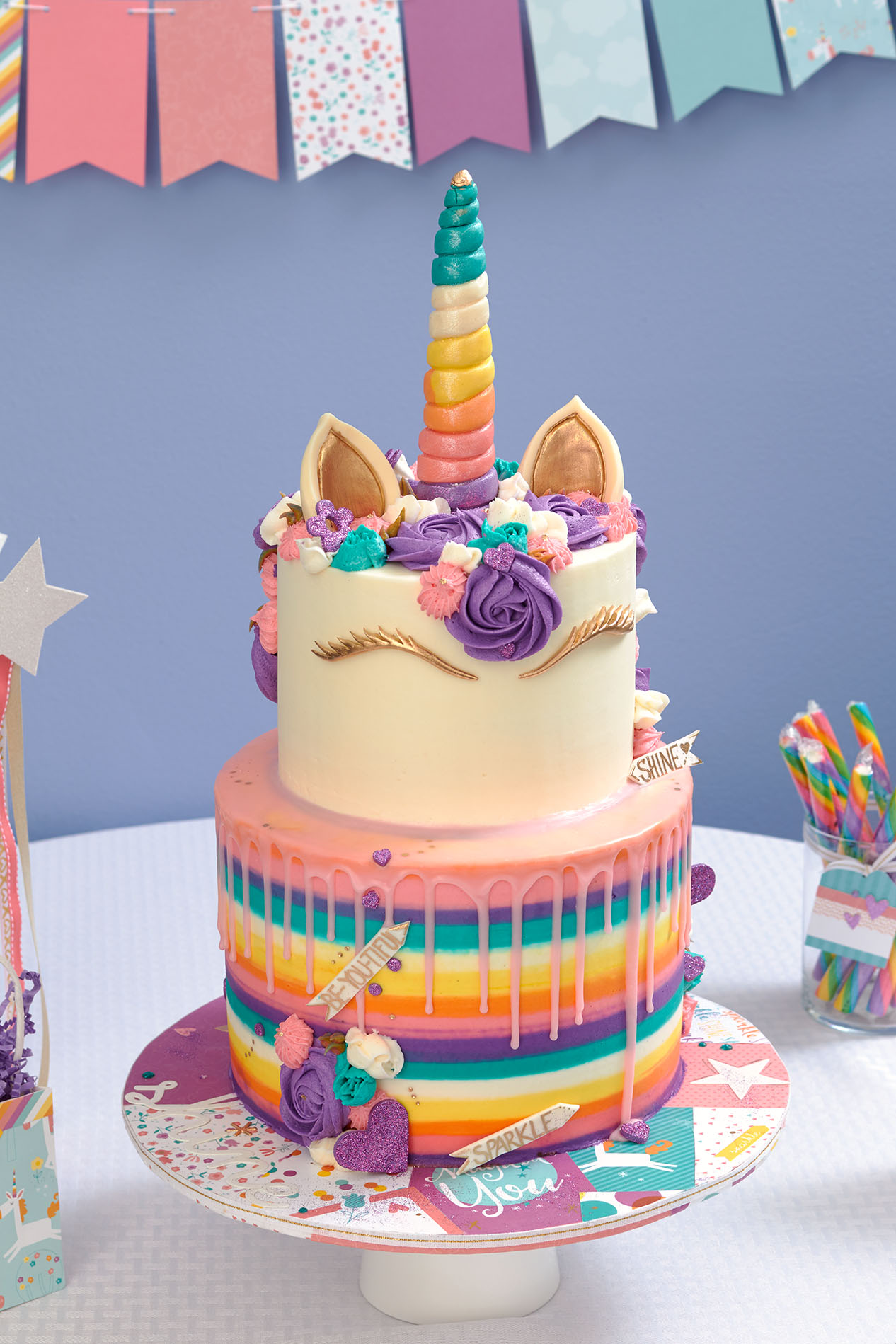 Superb This Unicorn Party Takes The Cake Make It From Your Heart Funny Birthday Cards Online Overcheapnameinfo