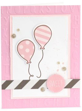 Base & Shade Stamping #ctmh #closetomyheart #stamping #nationalstampingmonth #baseandshade #layeredstamping #sweet #ballons #bashful #alphabet #card #cardmaking
