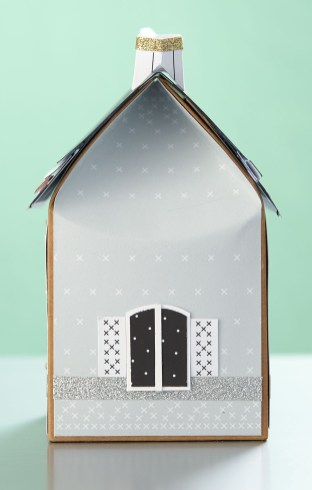 holiday paper village #ctmh #closetomyheart #papercrafting #paperhouse #papervillage #wintervillage #papertree #paperlamp #christmasvillage