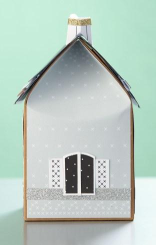 holiday paper village #ctmh #closetomyheart #papercrafting #paperhouse #papervillage #wintervillage #papertree #paperlamp #christmasvillage