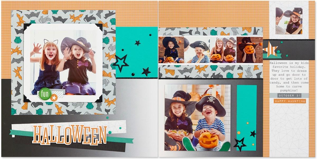 scrapbook pattern #ctmh #closetomyheart #halloween #freepattern #scrapbookpattern #scrapbook #pattern #free #cats&bats