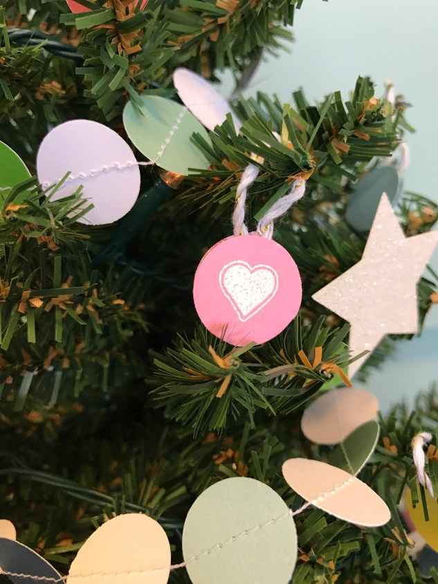 paper ornaments #ctmh #closetomyheart #paperornaments #ornaments #diy #Chrismas #tree #embossing #heart #star #sewing
