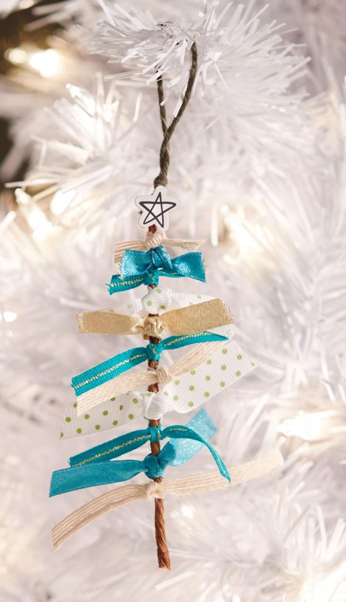diy ribbon crafts #ctmh #closetomyheart #diy #ribbon #craft #project #Christmas #tree #ornament
